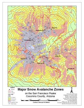 major avalanche zones
